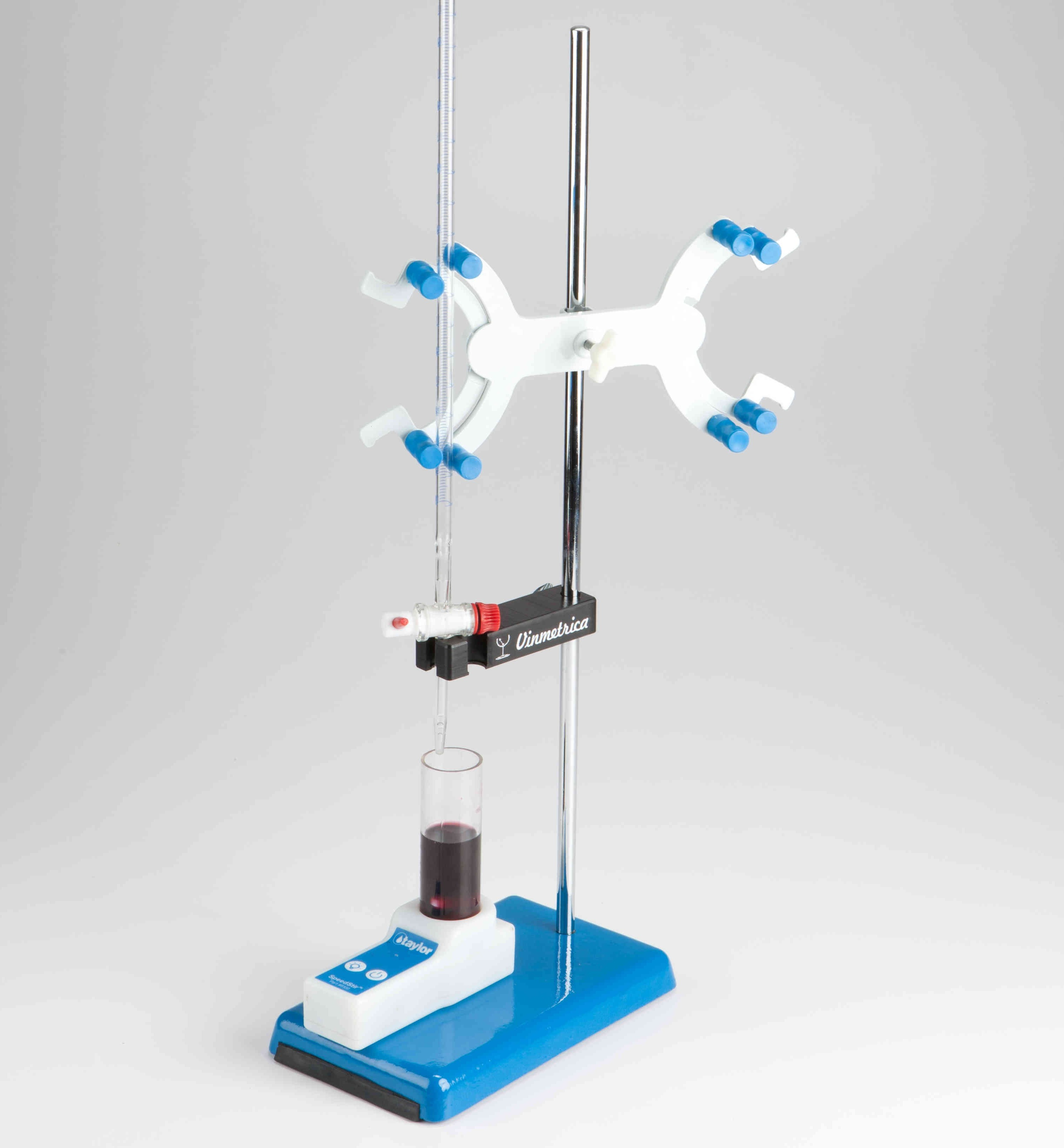 The Deluxe Lab Accessory Kit is a convenient add-on to the Vinmetrica SC line of Analyzers. With the added convenience of a magnetic stirrer, electrode holder, a burette and lab support stand it makes an easy titration even easier!